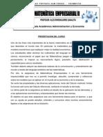 Modulo Matematica Empresarial II USP_MATRICES