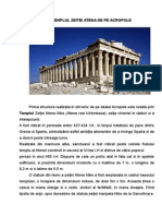 Templul Zeitei Atena -Acropole