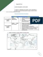 Ficha Das Variáveis Demografica a Nivel Mundial