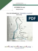 Acuerdo 009 Plan de Desarrollo