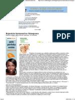 Reposição Hormonal Na Menopausa