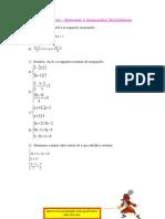 21 - Exercícios Sistemas e Inequações Simultaneas
