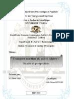 Transport Maritime du Gaz en Algérie - Réalité et Perspectives -