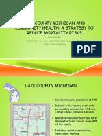 lake county michigan and community health