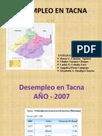Desempleo en TACNA_2007,2008,2009