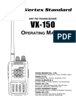 Yaesu Vx 150 Operating Manual