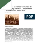 PCG-PCCA. 1922-1932