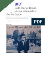 Después de Leer Ulises Jung Envió Carta a Joyce