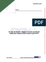 AAL-SNI 6989.10-2011-Air Dan Air Limbah (Bag.10) - Cara Uji Minyak Nabati Dan Minyak Mineral Secara Gravimetri