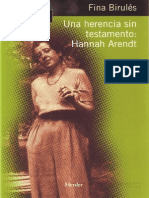 Hannah Arendt - Birulés Una Herencia Sin Testamento