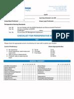 Checklist Perioperative Nurse 2011