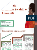 Sistema de Escritura Swahili o Kiswahili