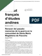 Fuller. Renacer Del Pasado. Memorias de La Guerra en La Comunidad de Santa Maria Magdalena de Pacccha (2004)