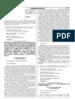 Nombramiento de Profesionales y Tecnicos Asistenciales 06/11/2014-MINSA-D.S.034-2014-SA