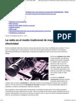La Radio Es El Medio Tradicional de Mayor Alcance y Efectividad _ GEC