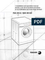 Washer Dryer Combination_FAS 3612 FAS 3612X Installation and User Manual