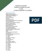 Manual de Usuario E-class Teacher