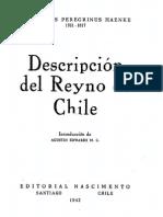 Descripción Del Reyno de Chile