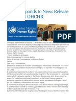 GOSL Responds to News Release by the UN OHCHR