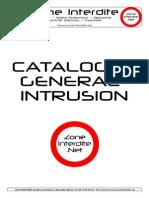Catalogue Intrusion Site Zone Interdite