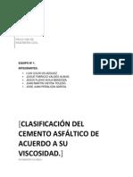 Clasificación Del Cemento Asfáltico