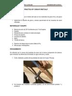 Informe de Practicas Tratamientos Termicos