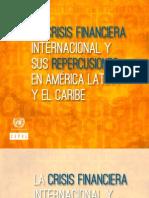 La Crisis Financiera Internacional y Sus Repercusiones en America Laboran