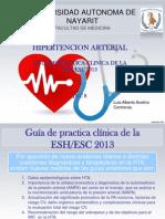 Hipertencion Arterial Guia Europea y Jnc8 AVELINO