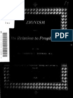 Zionism and Its Relation to Prophecy (1898)