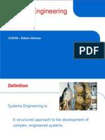 Systems Engineering Described