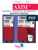 Minnesota/North Dakota Pull Tab Vending Machine Operators Manual