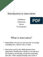 Intro to Innovation