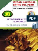 Tema 12 Mg Ley Mineral Valor Económico