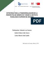 Reporte de Inv Equidad Genero