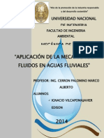 Aplicacion de  Mecanica de Fluidos.