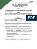 Estatutos Del Comité Bienestar de Profesores y Asistententes de La Educacion Escuela Ejercito de Salvacion Sede Arica