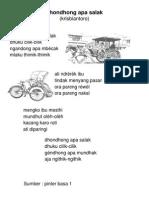 Dondong Opo Salak