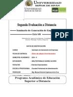 2DA. EVALUACION A DISTANCIA DE SEMINARIO DE GENERACION DE EMPRESAS 2014-II MAEC.doc