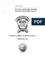 BSIS Manual Power To Arrest 2013