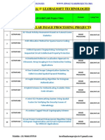 Ieee 2014-2015 Matlab Project Titles-globalsoft Technologies