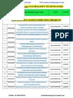 2014 Ieee Dotnet Projects Titles-globalsoft Technologies