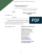 Jay Clifton Kolls v City of Edina Withdrawal of Counsel