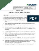 Chemicals and Hazardous Substances
