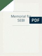 Memorial for SEBI