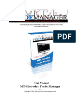 MT4 Intraday Trade Manager V3 User Manual