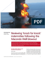 Reviewing Knock for Knock Indemnities Following the Macondo Well Blowout