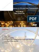 The Place of Insurance in Oil and Gas Transactions (Anne Mkala)