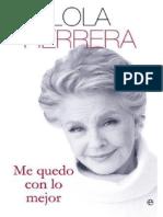 Me Quedo Con Lo Mejor - Lola Herrera