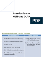 Intro to OLTP and OLAP
