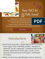 say no to junk food